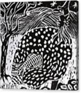 Guinea Fowl Under The Stars Canvas Print