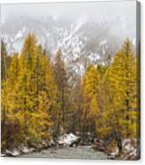 Guisane Valley In Autumn - French Alps Canvas Print