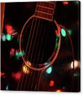 Guitar And Lights Canvas Print