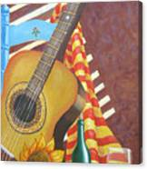 Guitar And Oranges Canvas Print