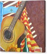 Guitar And Oranges Canvas Print