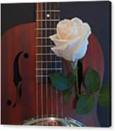 Guitar And Rose 2 Canvas Print