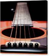 Guitar Orange 19 Canvas Print