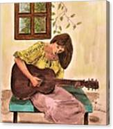 Guitar Player Canvas Print