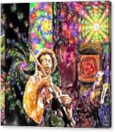 Guitar Watercolor Canvas Print