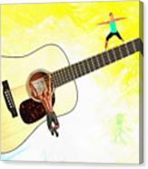 Guitar Workout Canvas Print