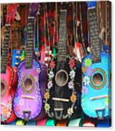 Guitarras Floriadas II Canvas Print