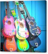 Guitarras Floriadas Canvas Print
