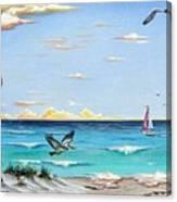 Gulf Beach Pathway Canvas Print