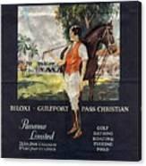 Gulf Coast - Illinois Central - Vintage Poster Folded Canvas Print