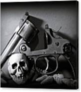 Gun And Skull Canvas Print