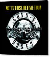 Guns And Roses Logo1 2017 Canvas Print