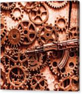 Guns Of Machine Mechanics Canvas Print