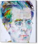 Gustav Mahler - Watercolor Portrait.3 Canvas Print