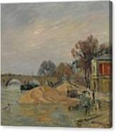 Gustave Loiseau 1865 - 1935 Marie Bridge In Paris Canvas Print