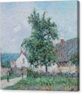 Gustave Loiseau 1865 - 1935 Small Farm In Vaudreuil, Time Gray Canvas Print