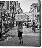 Guwahati In Black And White Canvas Print