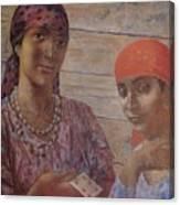 Gypsies Kuzma Petrov-vodkin - 1926-1927 Canvas Print