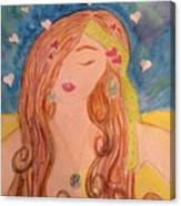 Gypsy Girl 2 Love To The World Canvas Print