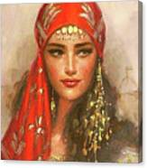Gypsy Girl Portrait Canvas Print