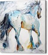 Gypsy Vanner Motion Paint Sketch Canvas Print