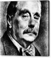 H. G. Wells Author Canvas Print