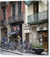 Barcelona Shops Canvas Print
