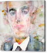 H. P. Lovecraft - Watercolor Portrait.3 Canvas Print