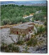Hacienda In The Desert Canvas Print