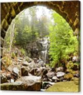 Hadlock Falls Under Carriage Road Arch Canvas Print