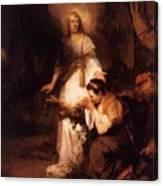 Hagar And The Angel 1645 Canvas Print