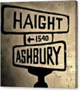Haight Ashbury Canvas Print