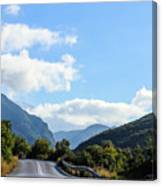 Hairpin Curve On Greek Mountain Road Canvas Print