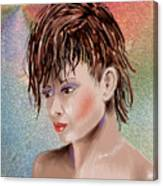 Hairstyle Of Colors Canvas Print