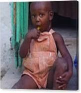 Haitian Boy Canvas Print