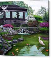 Hakone Gardens Pond In The Spring Canvas Print