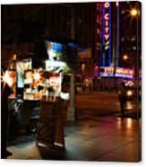 Halal Vendor At Radio City Music Hall Canvas Print