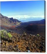 Haleakala Volcano Crater Canvas Print