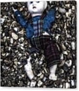 Half Buried Doll Canvas Print