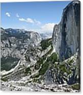 Half Dome And Yosemite Valley From The Diving Board - Yosemite Valley Canvas Print