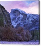 Half Dome Fall And Snow Canvas Print