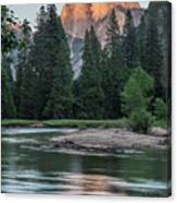 Half Dome In Evening Light Canvas Print