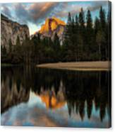 Half Dome Sunset Glow Canvas Print