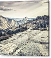 Half Dome View Canvas Print