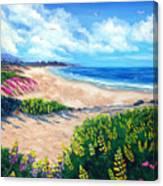 Half Moon Bay In Bloom Canvas Print