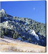 Half Moon Over The Flatirons Canvas Print