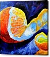 Half Peeled Orange Canvas Print