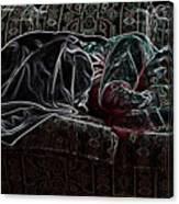 Halfabaskan Sleeping Canvas Print