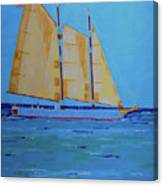 Halifax Keys Schooner Canvas Print