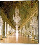 Hall Of Mirrors  The Galerie Des Glaces Canvas Print
